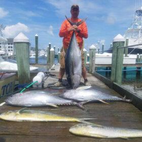 Tuna fishing in Pirates Cove Marina